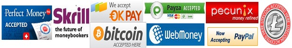Buy web hosting pay with Perfect Money, Webmoney, Paypal, Okpay, Payza, Bitcoin, Litecoin, Pecunix and Skrill (Moneybookers)